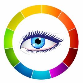 Eye and color wheel