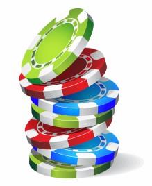 Falling casino chips