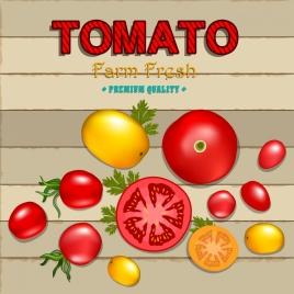 farm products background tomato icon shiny flat design