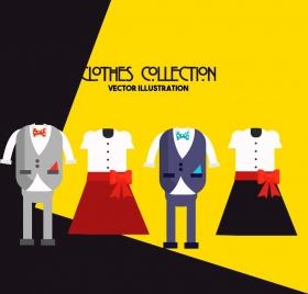 fashion advertising background elegant clothes models classical design