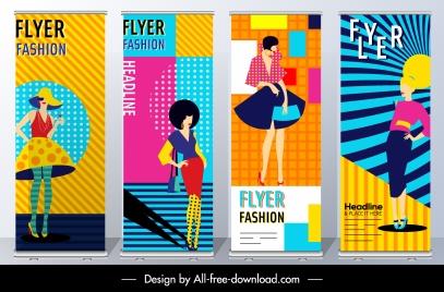fashion flyer templates colorful model decor