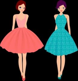 fashion model icons modern dress style