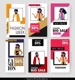 fashion sale posters models decor modern simple design