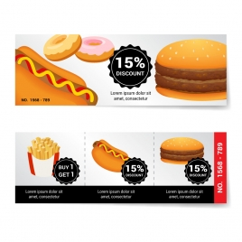 fast food discount banner