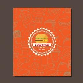 fast food leaflet cover design serrated circle logo