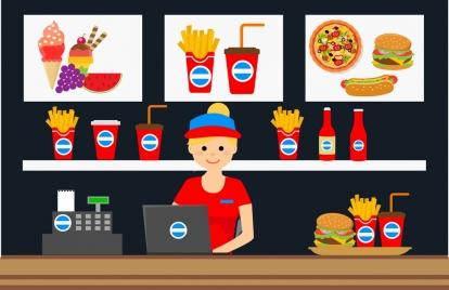 fast food store design food advertising display