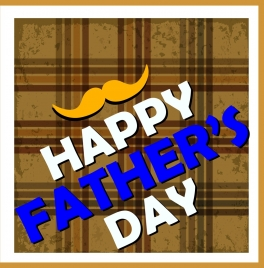 father day backdrop retro stripes style colored texts