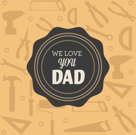 father day backdrop seal decoration vignette tools backdrop