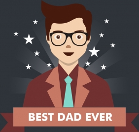 father day background best dad icon sparkling stars