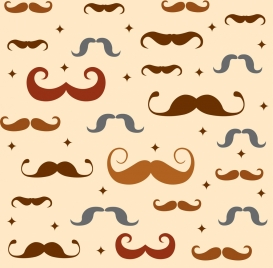 father day background repeating colored moustache icons