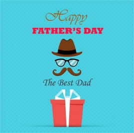 fathers day banner design with flat colors style