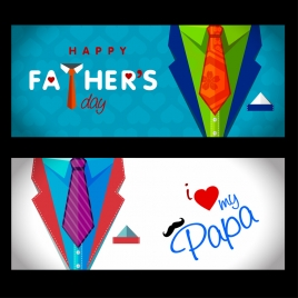 fathers day poster illustration with vests design