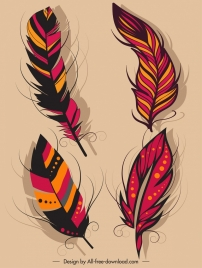 feather icons dark colorful classical decor
