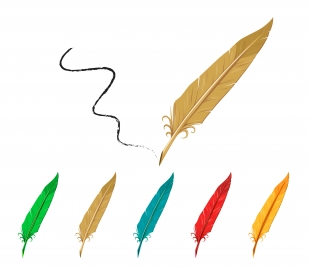 feather pen collection