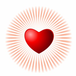 FINAL Heart shape on glowing background