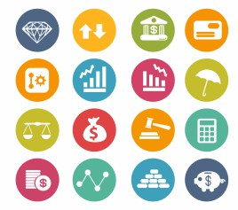 Finance Icons | Circle Series