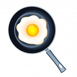 fire egg on pan