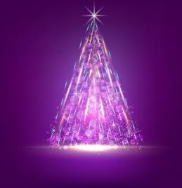 fireworks background sparkling fir tree decoration