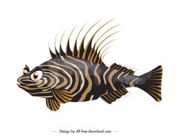 fish icon colored flat modern design