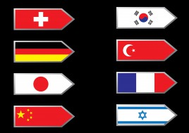 flag arrow collection