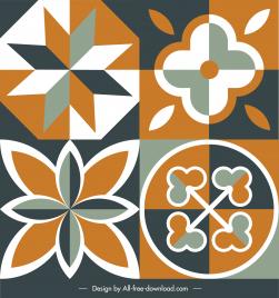 flooring tile decor elements elegant flat symmetrical flora