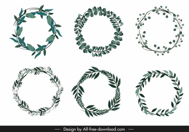 flora leaf wreath template classic circle decor