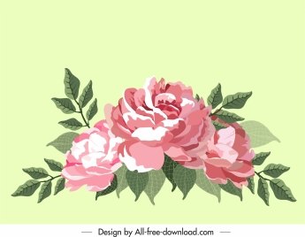 flora painting blooming sketch colored classic decor