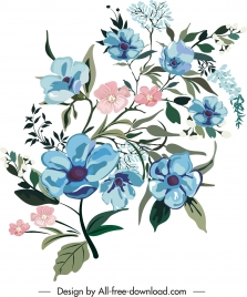 flora painting colored classic decor