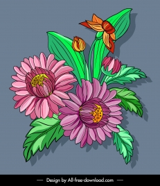 flora painting colorful classical decor