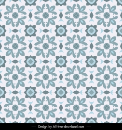 flora pattern template flat classical repeating symmetric design