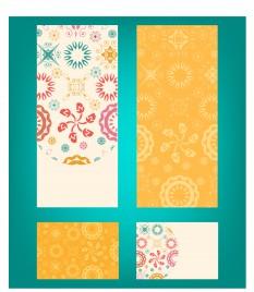 floral banner vector design