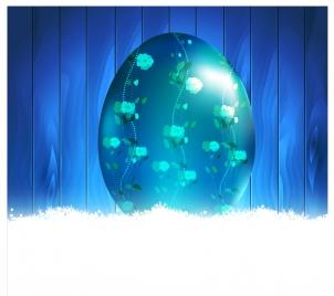 floral egg decor