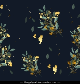floral pattern modern colored contrast decor