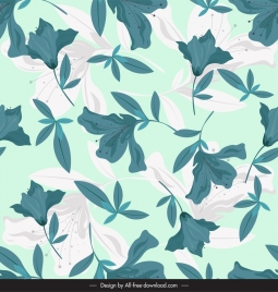 floral pattern template classical colored sketch