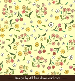 floral pattern template elegant colorful flat classical decor