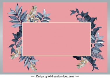 floral text box background colored classical design