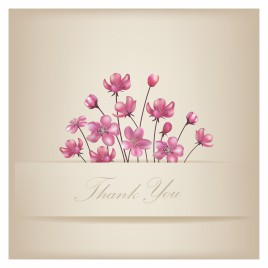 Design thank you card vectors stock for free download about 6 floral thank you card spiritdancerdesigns Choice Image