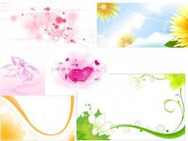 Flower banner set in eps vector format