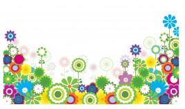 Flower footer border