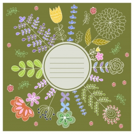 flower frame with coppy space