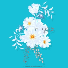 flower painting classical white decor