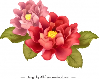 flower painting colorful classical 3d decor