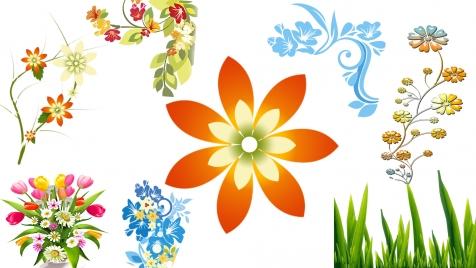 flowerdesignelementsvariousyellowsymbols9666