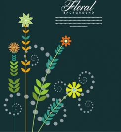 flowers background classical colorful design style