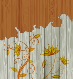 flowers background colored sketch scaled off wooden decoration