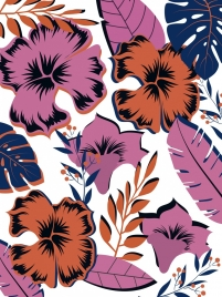 flowers background colorful flat decor