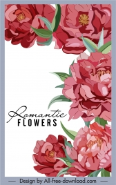 flowers painting colored retro decor