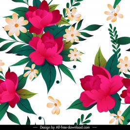 flowers painting colorful bright classic decor