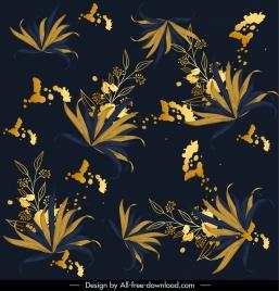 flowers painting dark colorful decor elegant design