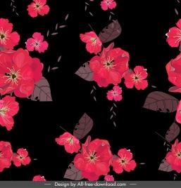 flowers painting dark decor blooming petals sketch